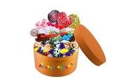 Сладкая коробочка с живыми цветами и сладостями на заказ