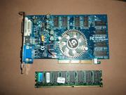 Продам DDR-128 и видеокарту - 256 mb