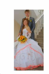 Продам свадебное платье размер 42-46,  160