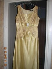 Продам платье вечернее золотистого цвета